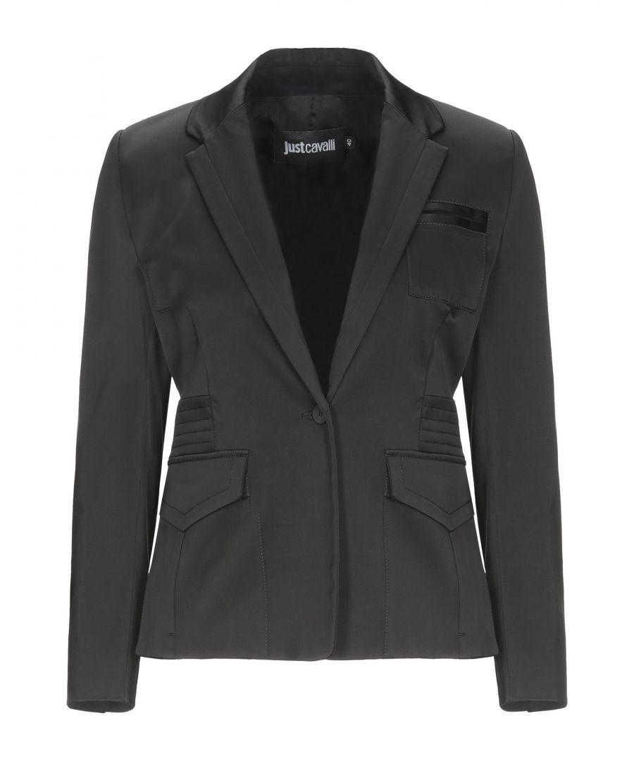 Image for Just Cavalli Black Single Breasted Blazer
