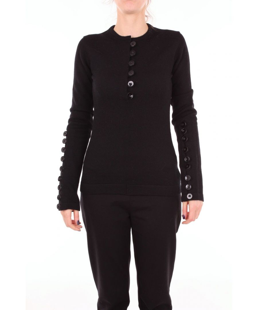 Image for JIL SANDER WOMEN'S SPN754054WNY20018BLACK BLACK WOOL JUMPER