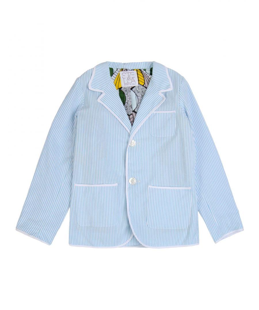 Image for Stella Jean Boy Suit jackets Sky blue Cotton
