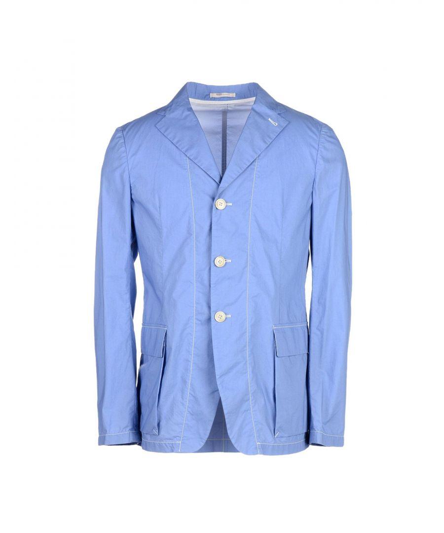 Image for Armani Collezioni Sky Blue Cotton Jacket