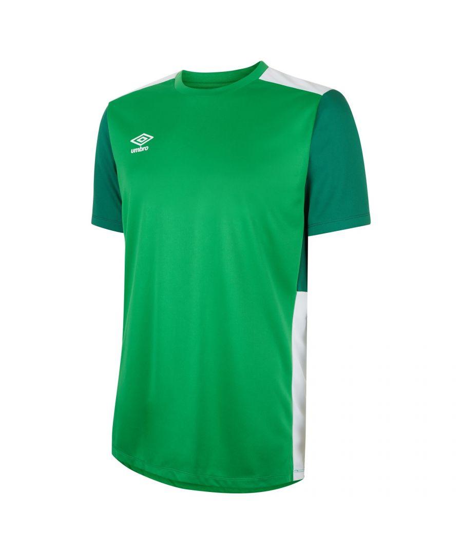Image for Umbro Boys Polyester Training Jersey (Emerald Green/Verdant Green/White)