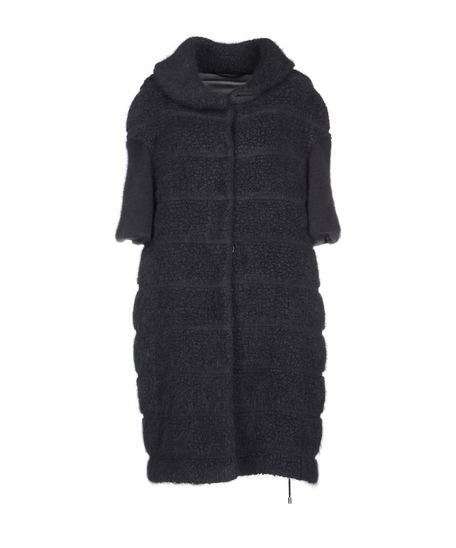 Image for Ermanno Scervino Lead Virgin Wool Coat With Three Quarter Length Sleeves