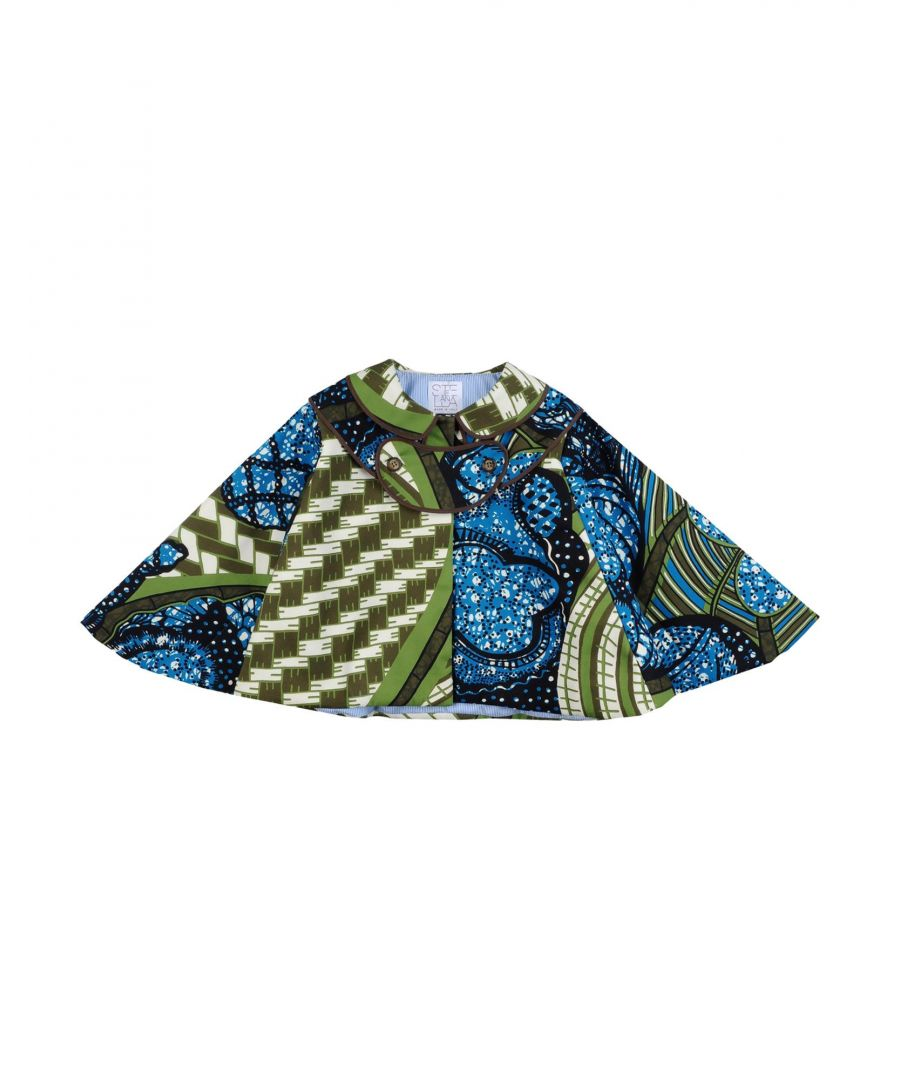 Image for Stella Jean Girl Capes & ponchos Blue Cotton