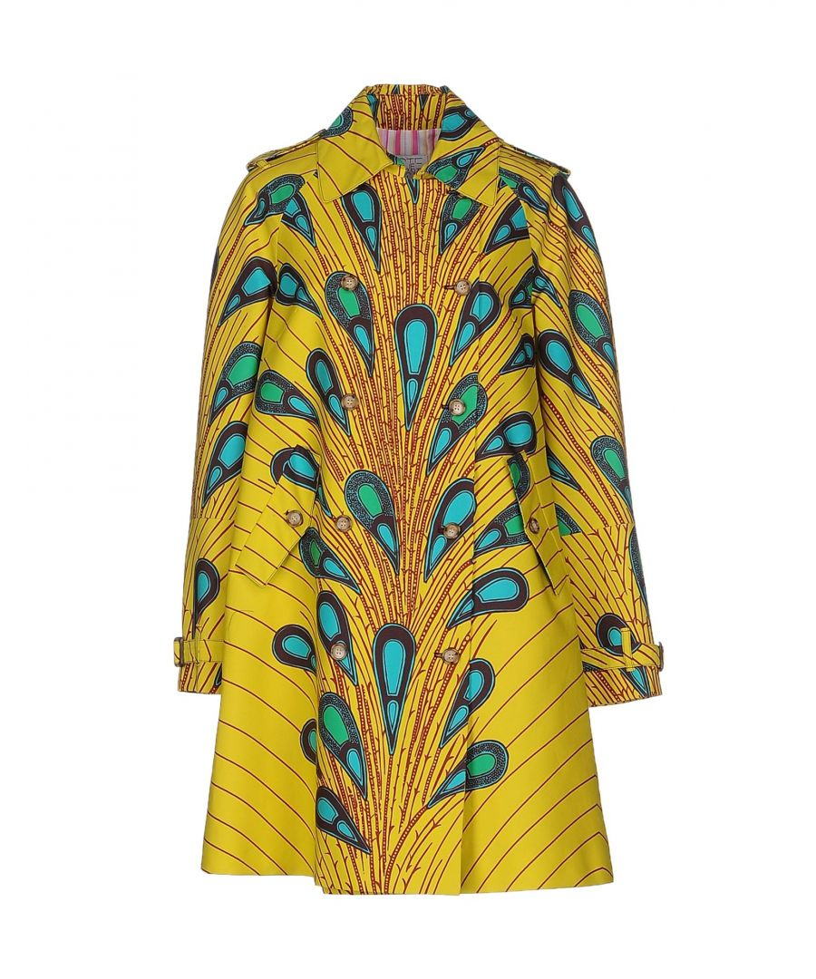 Image for Stella Jean Yellow Pattern Cotton Overcoat