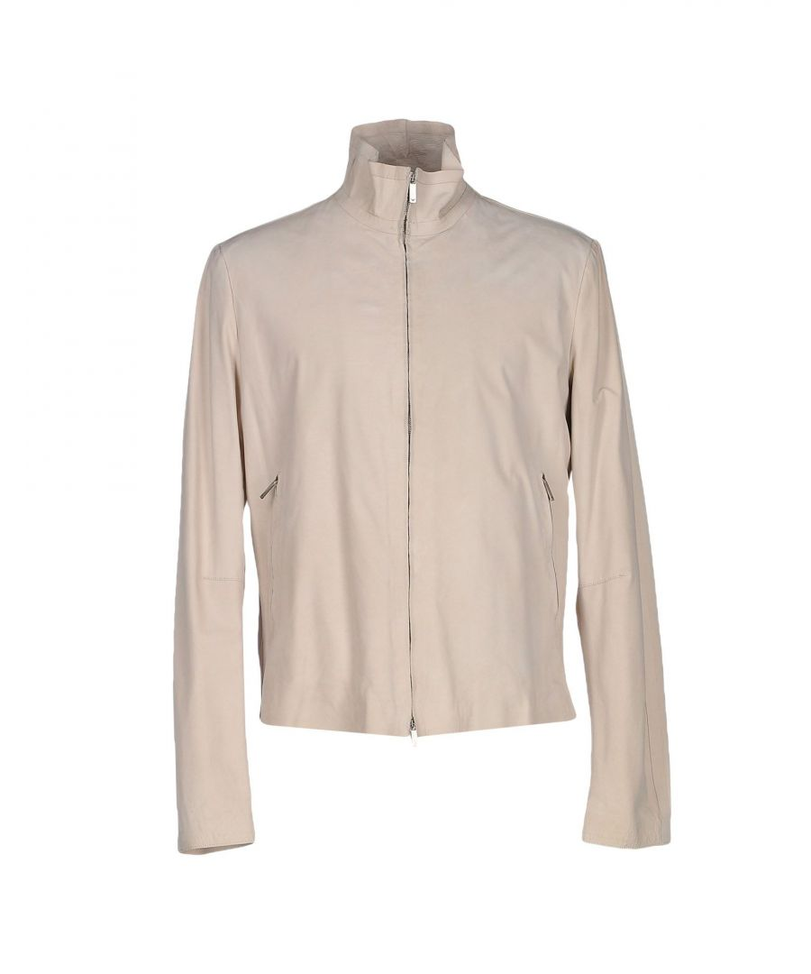 Image for Emporio Armani Ivory Calf Leather Jacket