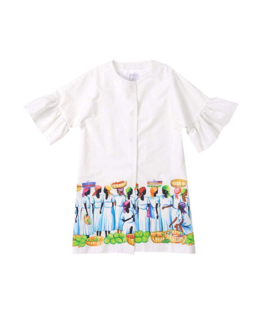 Image for Stella Jean Girl Overcoats White Cotton