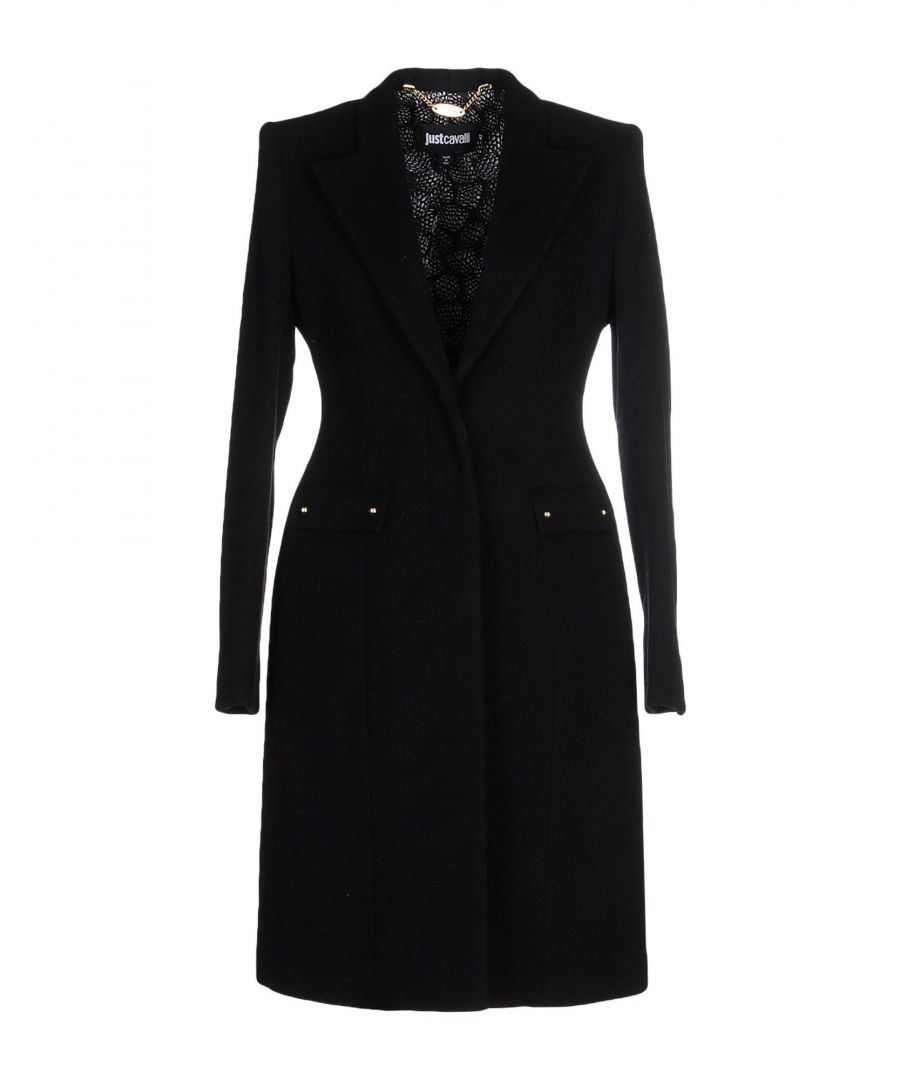 Image for Just Cavalli Black Wool Overcoat