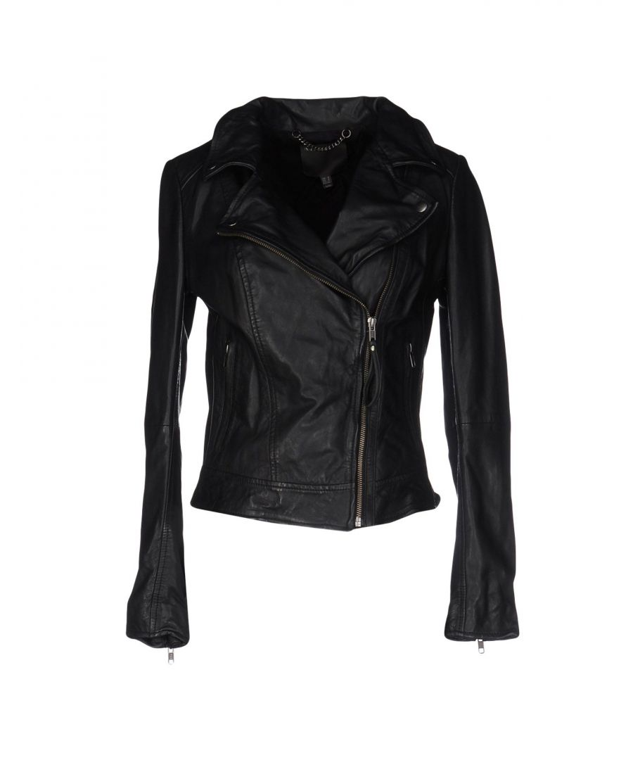 Image for Muubaa Black Lambskin Leather Jacket