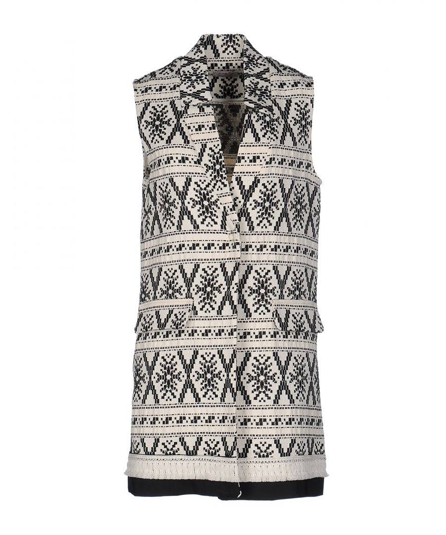 Image for Twenty Easy By Kaos Ivory Jacquard Cotton Sleeveless Jacket