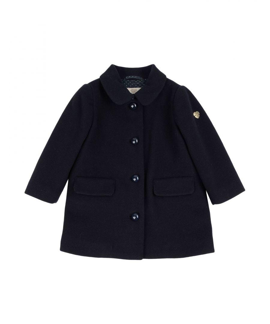 Image for COATS & JACKETS Girl Armani Junior Dark blue Wool