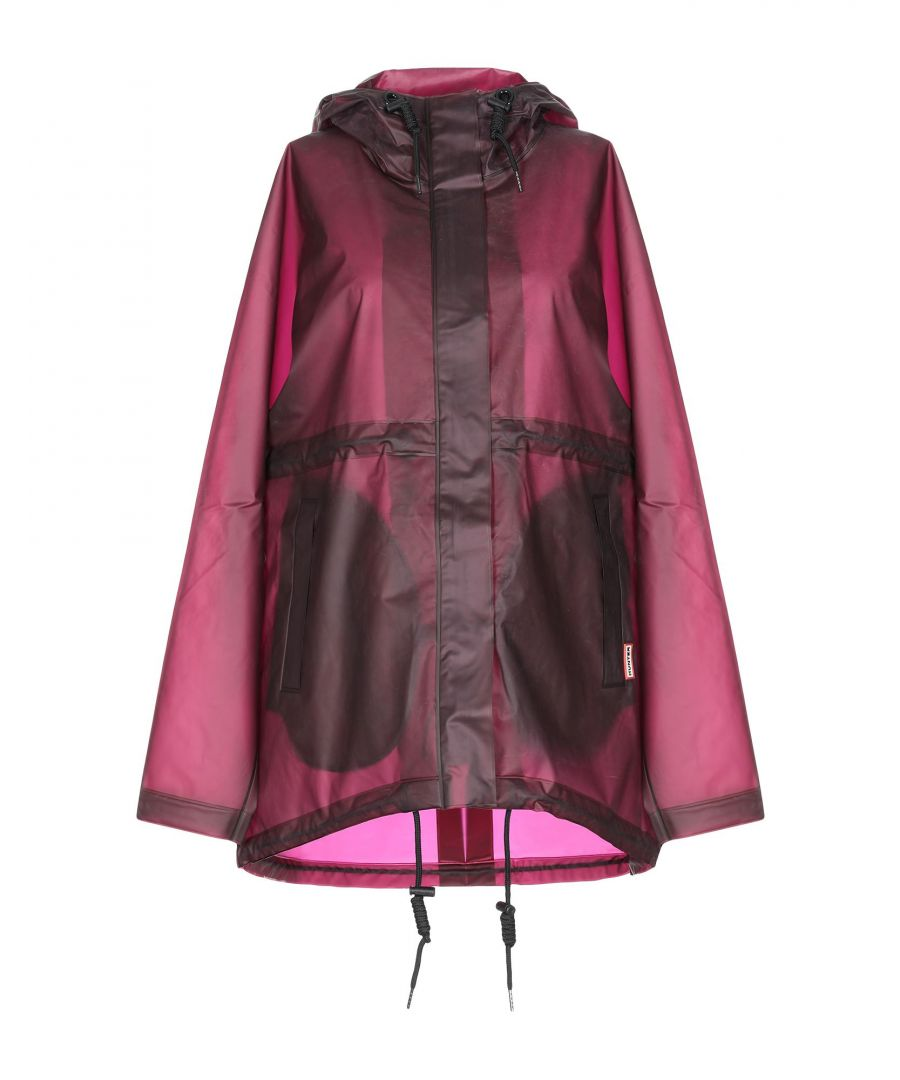 Image for Hunter Maroon Techno Fabric Raincoat