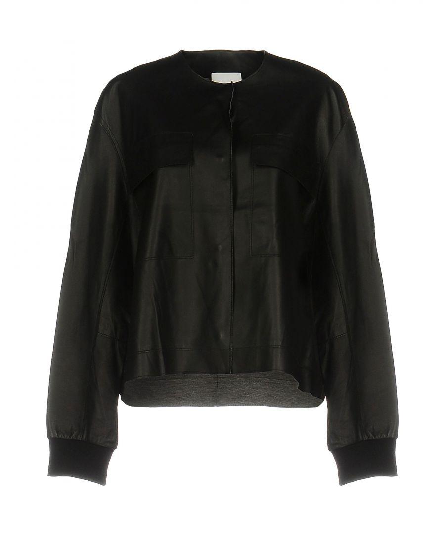 Image for DKNY Black Lambskin Jacket
