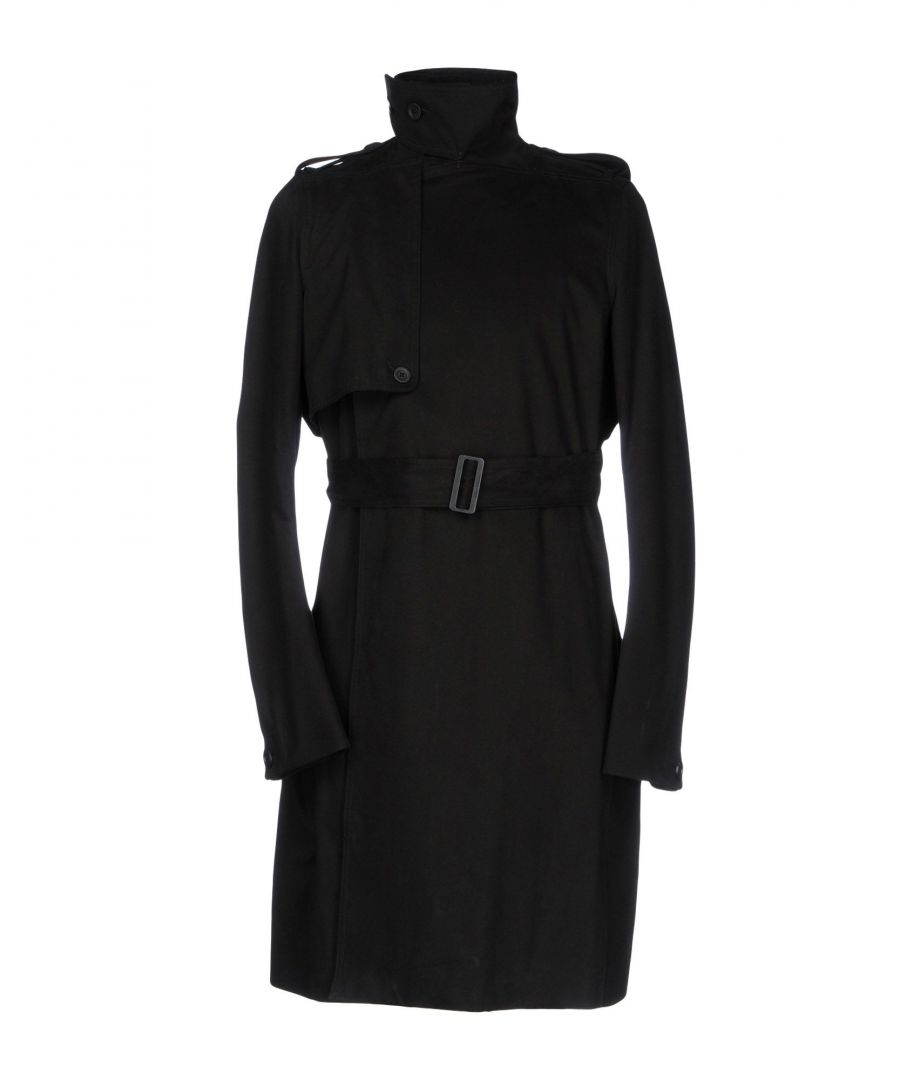 Image for Rick Owens Black Cotton Belted Trenchcoat