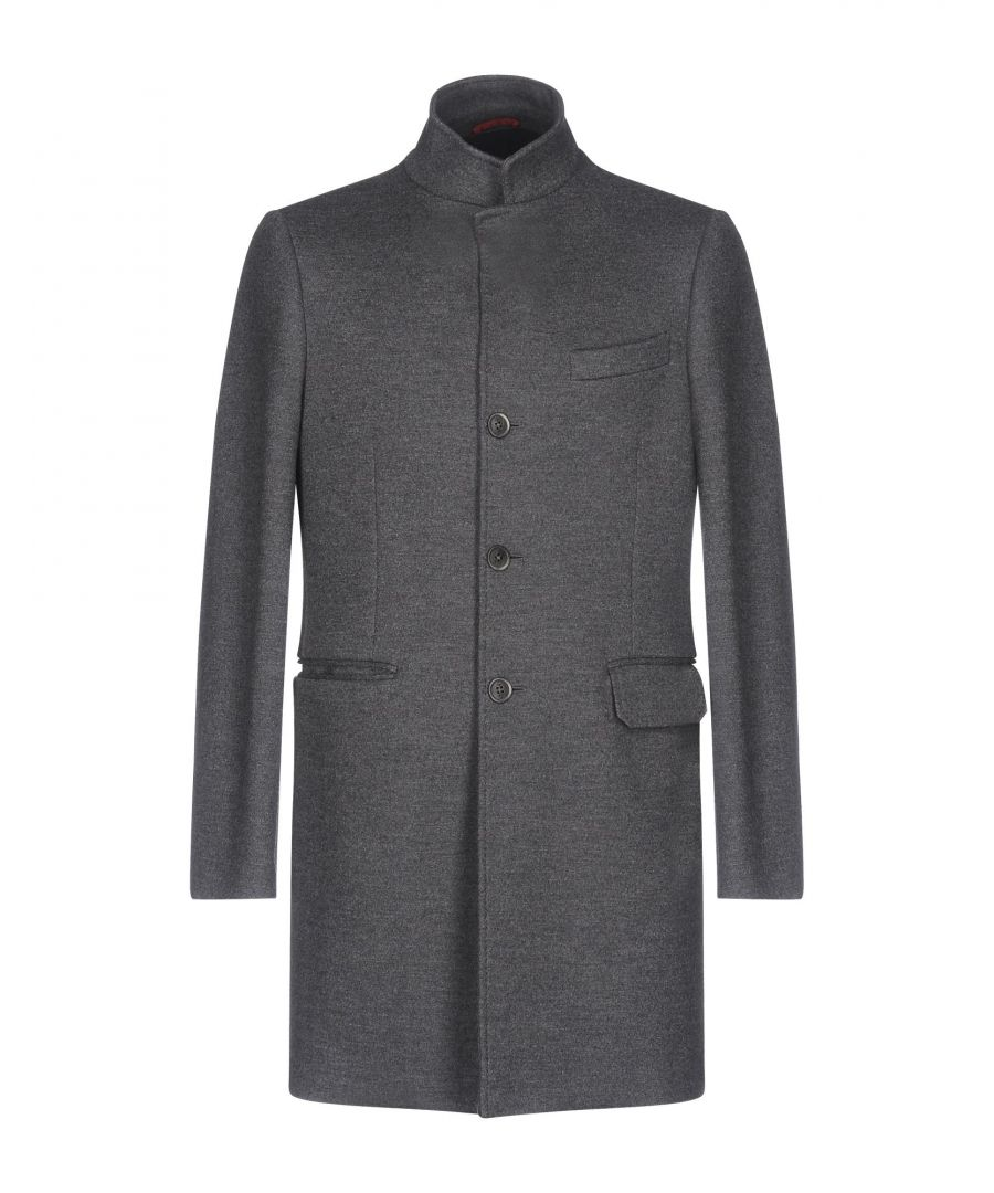 Image for Fay Grey Virgin Wool Overcoat