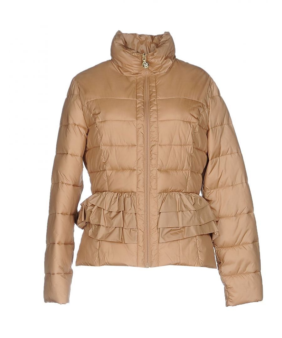 Image for Betty Blue Sand Techno Fabric Quilted Jacket
