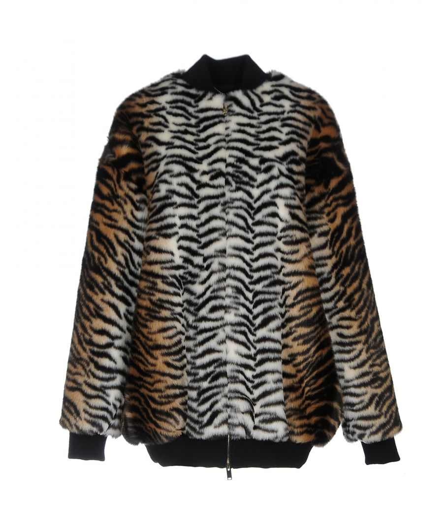 Image for Stella McCartney Beige Faux Fur Jacket