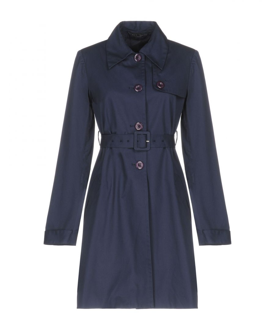 Image for Twinset Dark Blue Cotton Belted Trenchcoat