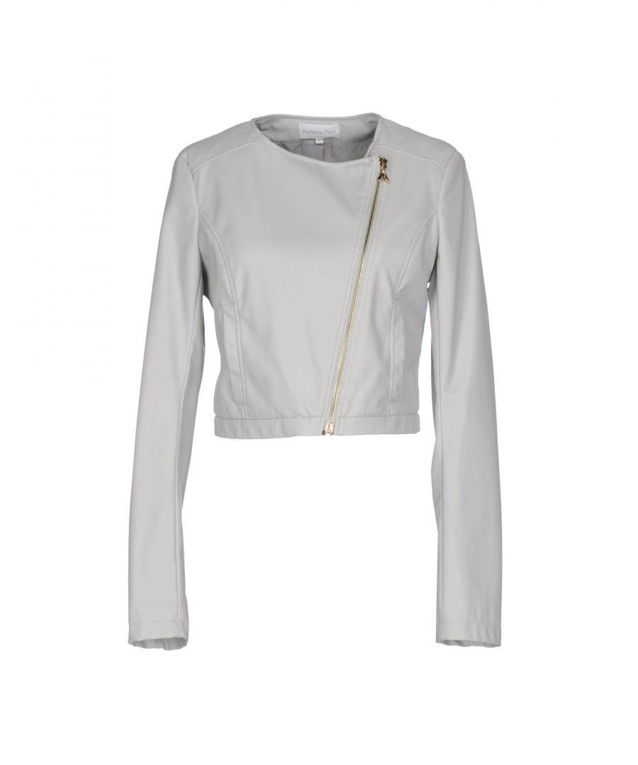 Image for Patrizia Pepe Light Grey Faux Leather Jacket