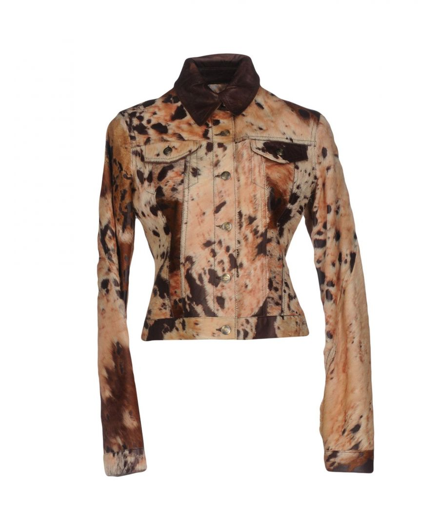 Image for Just Cavalli Beige Leather Jacket