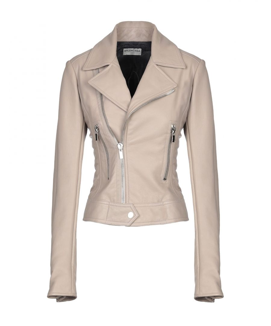 Image for Balenciaga Light Brown Lambskin Leather Biker Jacket