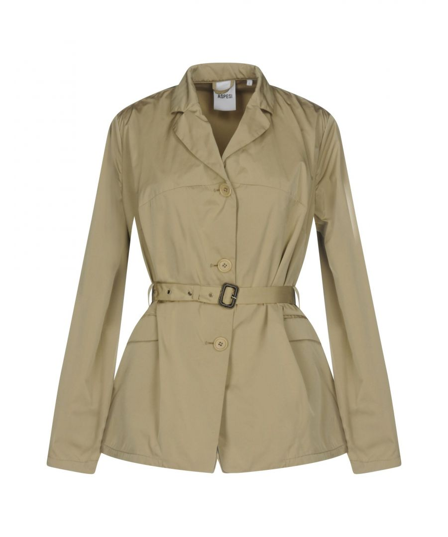 Image for Aspesi Sand Techno Fabric Belted Jacket