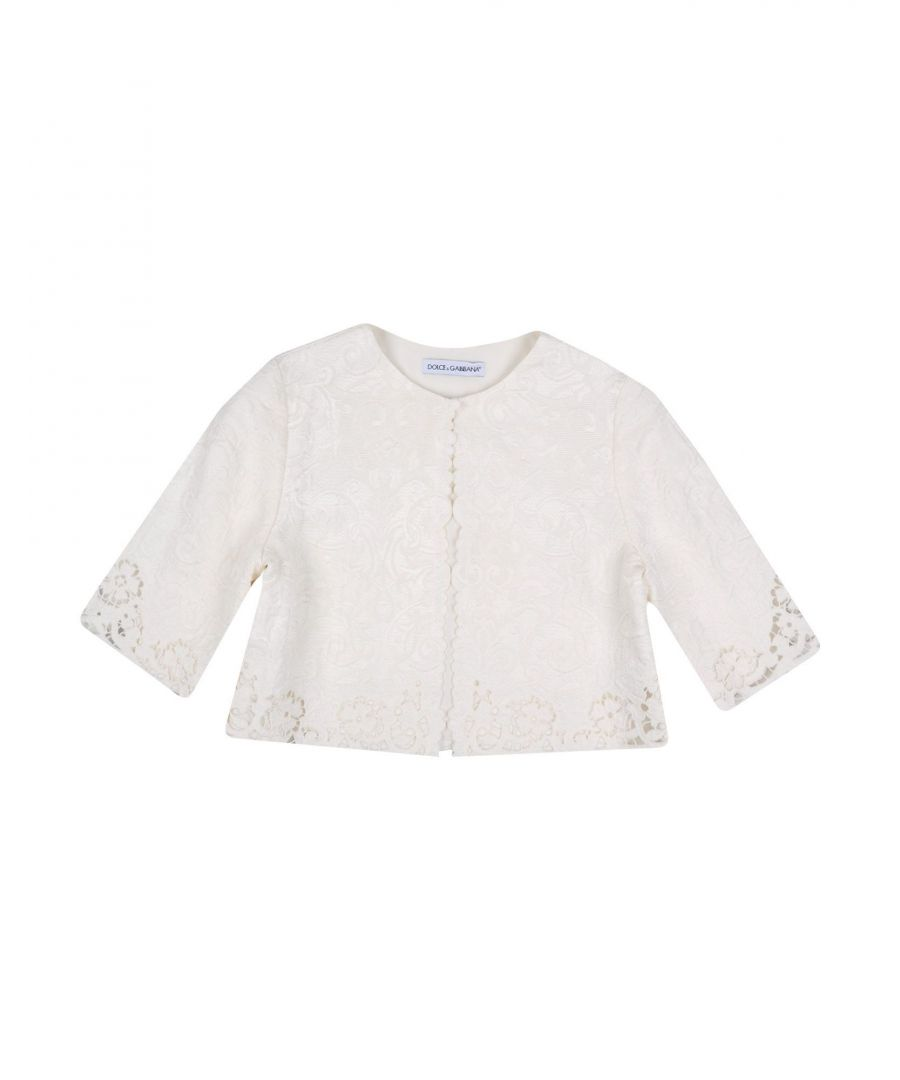 Image for SUITS AND JACKETS Dolce & Gabbana Ivory Girl Cotton