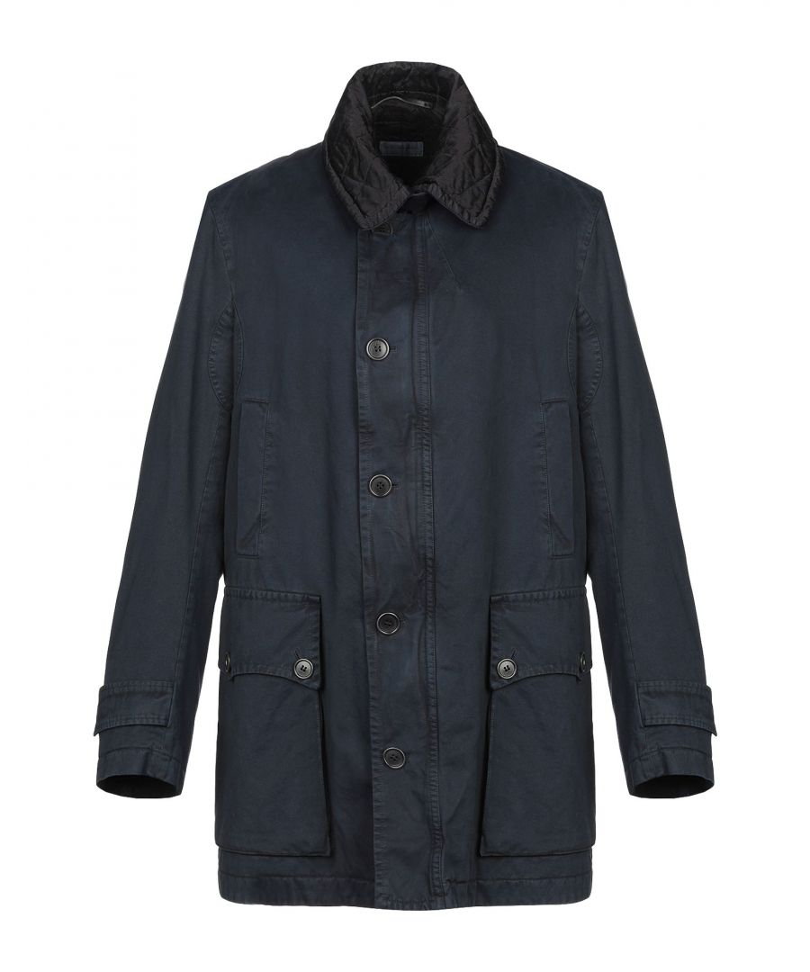 Image for Dries Van Noten Dark Blue Cotton Coat