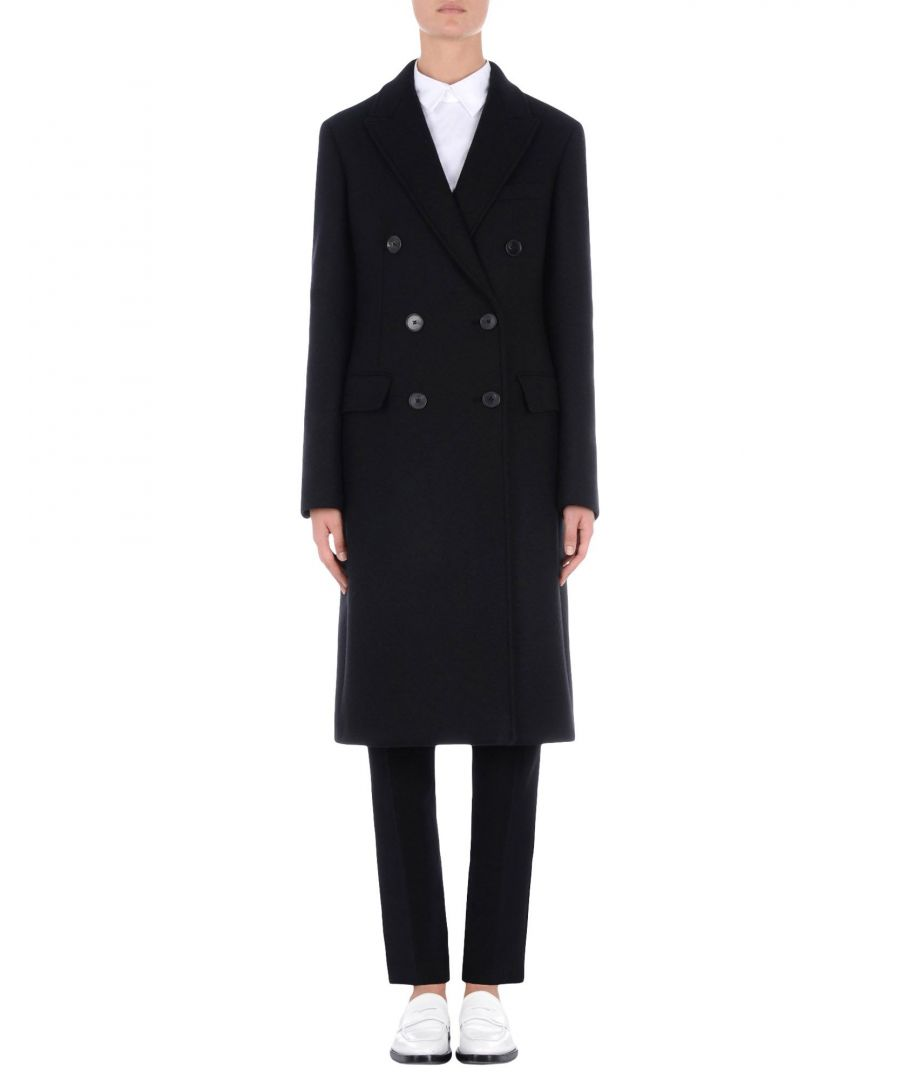 Image for Jil Sander Black Double Breasted Overcoat
