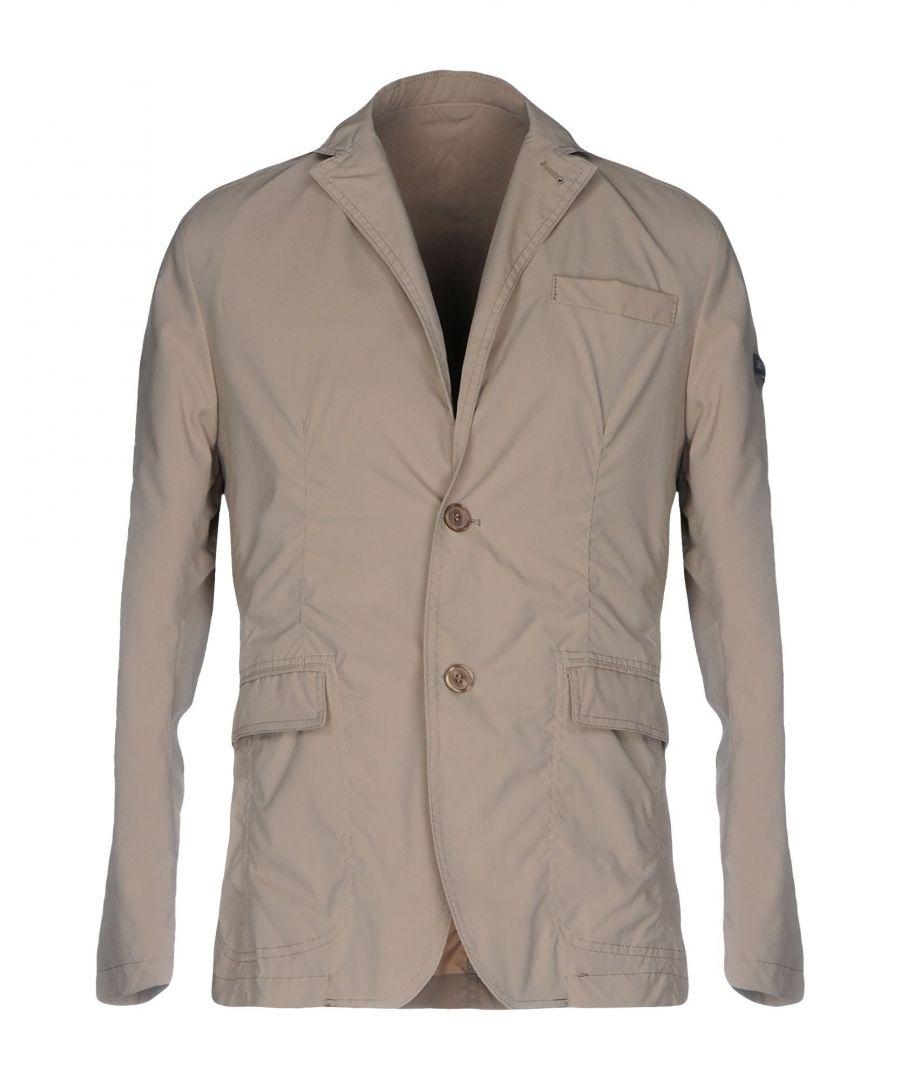 Image for Tru Trussardi Sand Techno Fabric Single Breasted Jacket