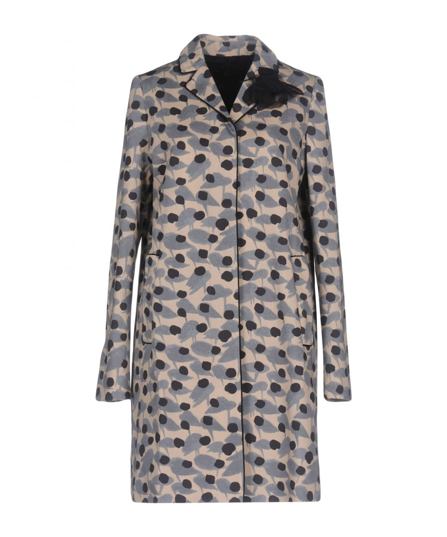 Image for Twinset Beige Pattern Cotton Coat