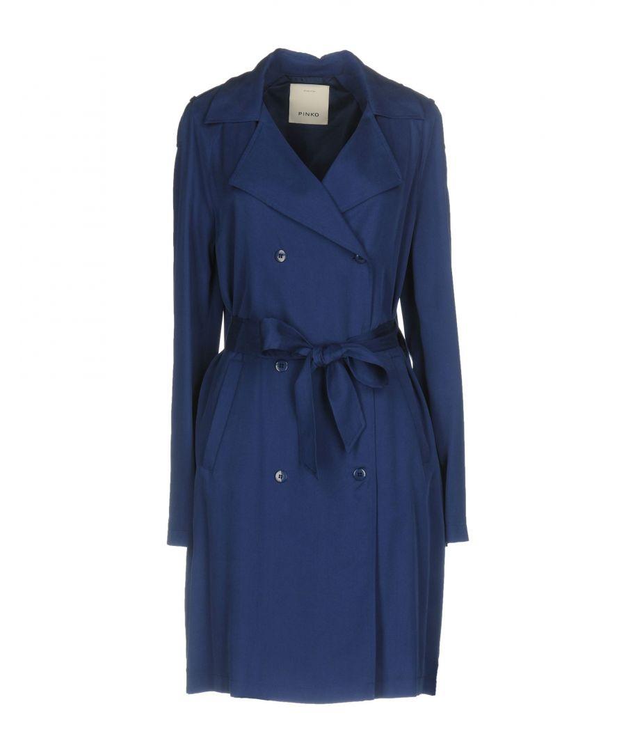Image for Pinko Dark Blue Belted Trenchcoat