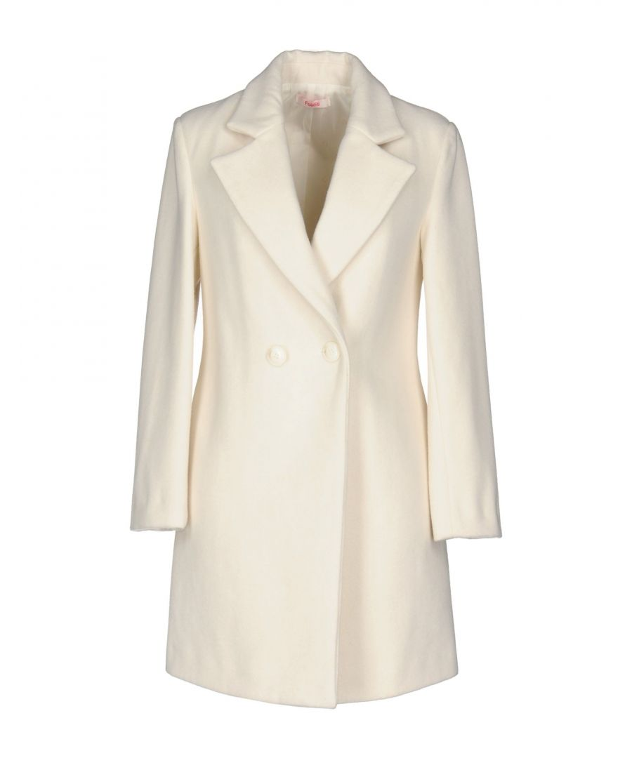 Image for Blugirl Folies Ivory Wool Double Breasted Coat