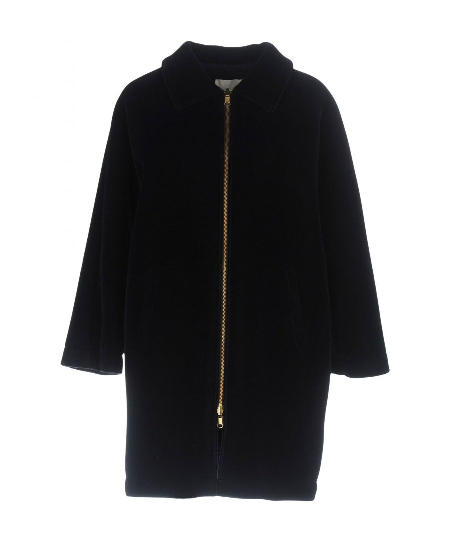 Image for L' Autre Chose Dark Blue Neoprene Coat