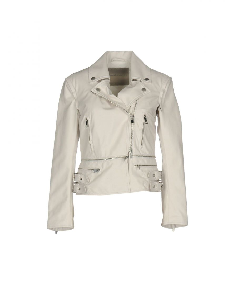 Image for Ermanno Scervino White Faux Leather Biker Jacket