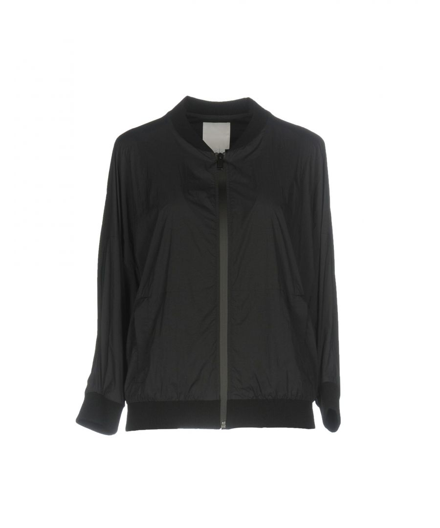Image for DKNY Black Techno Fabric Bomber Jacket