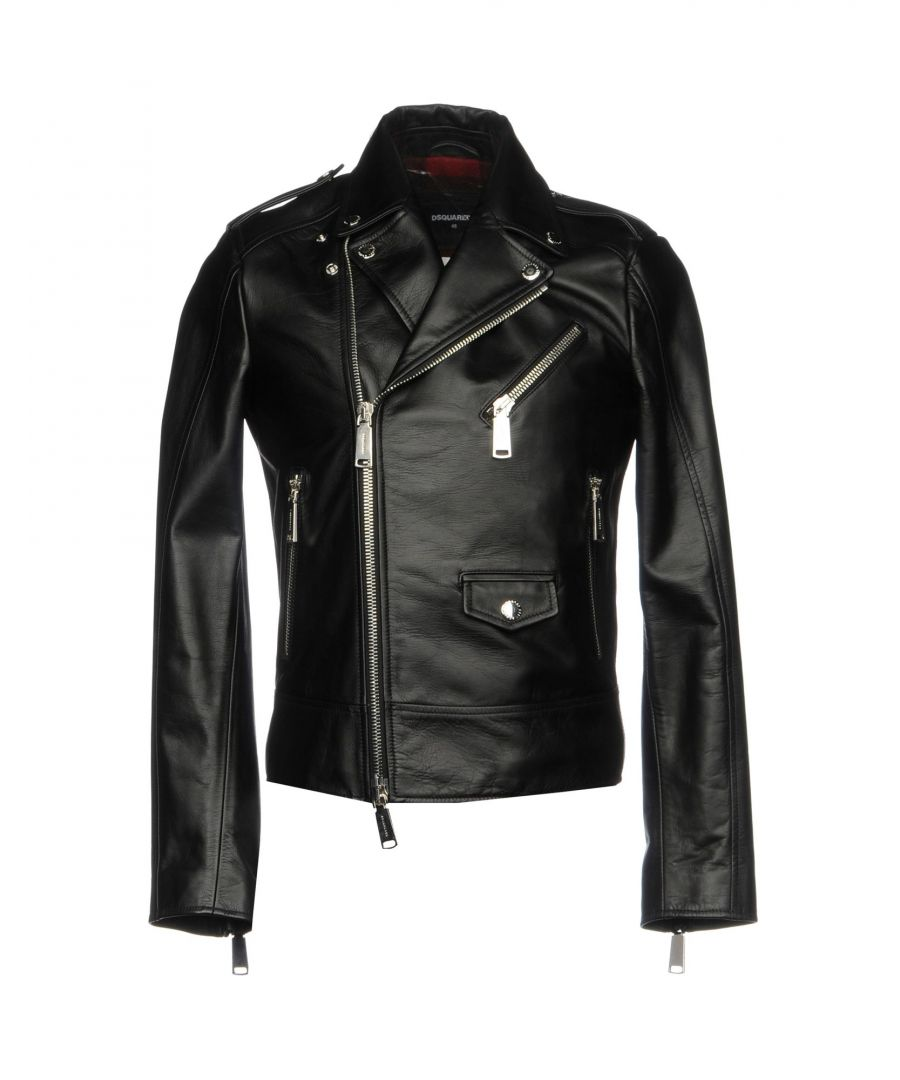 Image for Dsquared2 Black Calf Leather Jacket
