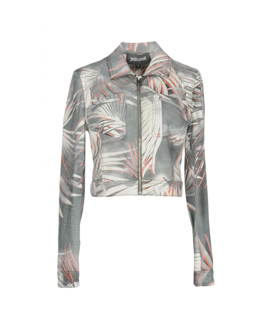 Image for Just Cavalli Grey Print Cotton Jacket