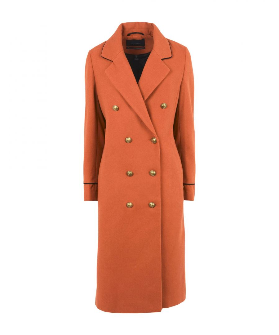 Image for Maison Scotch Brown Wool Double Breasted Coat