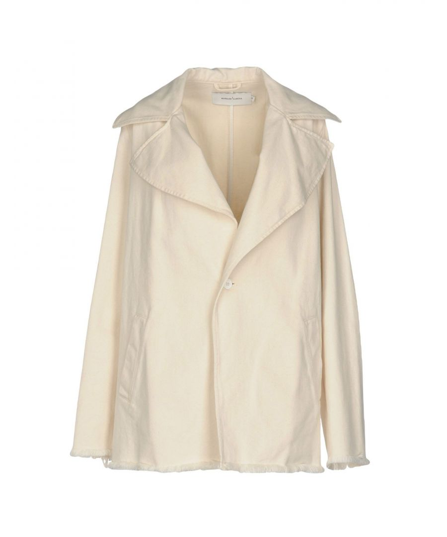 Image for Marques' Almeida Ivory Cotton Coat