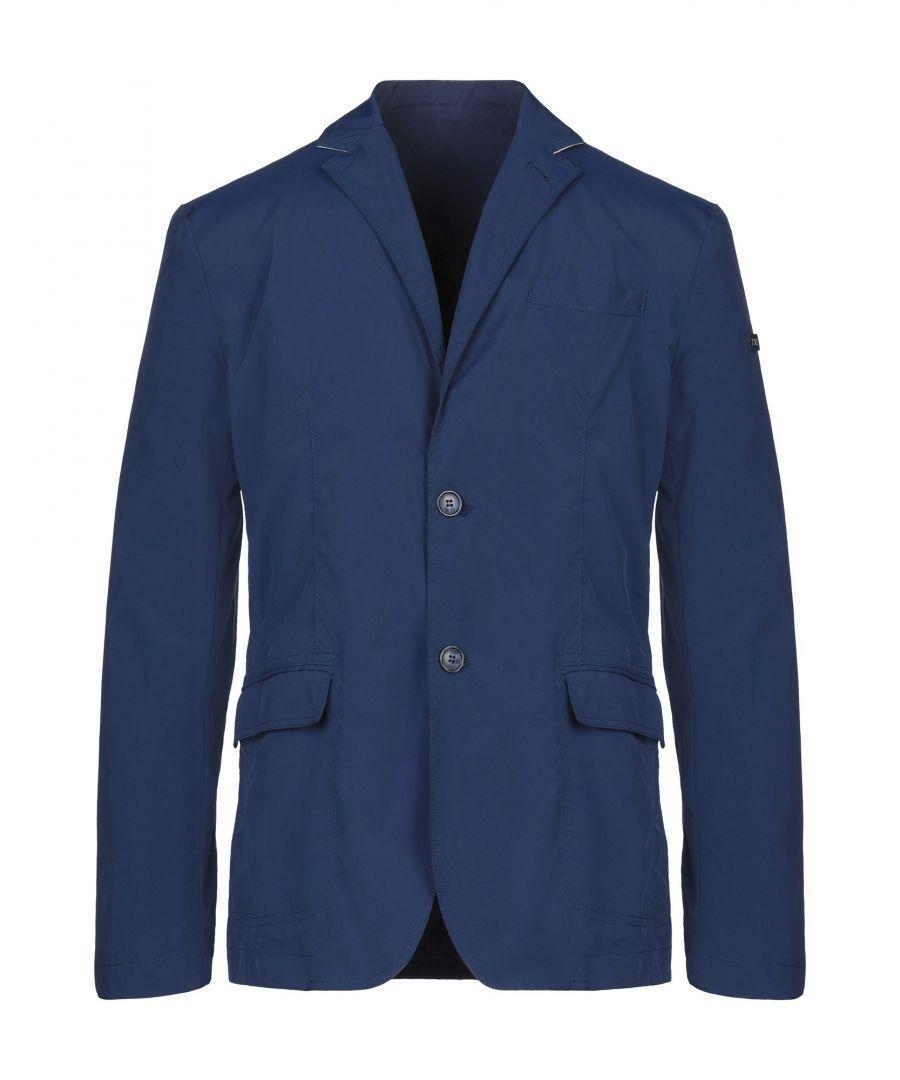 Image for Tru Trussardi Blue Denim Single Breasted Jacket