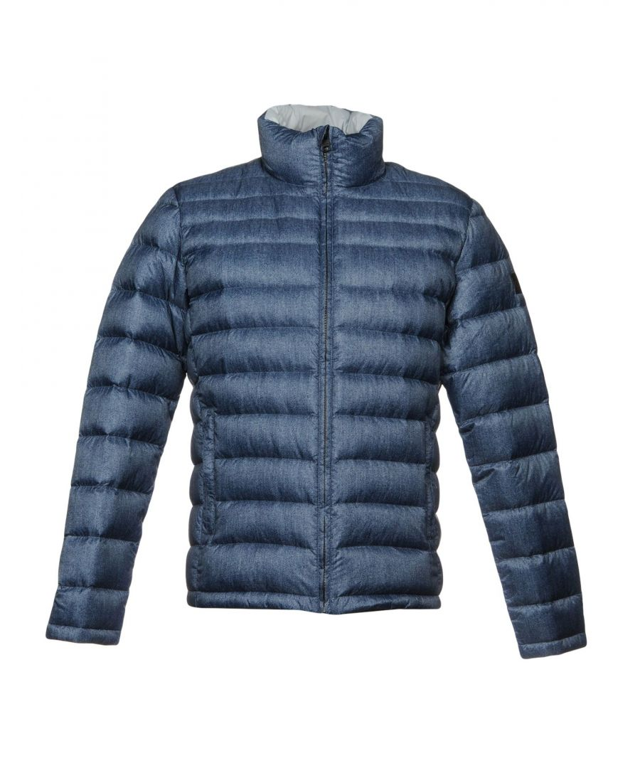 Image for Calvin Klein Jeans Slate Blue Techno Fabric Padded Jacket