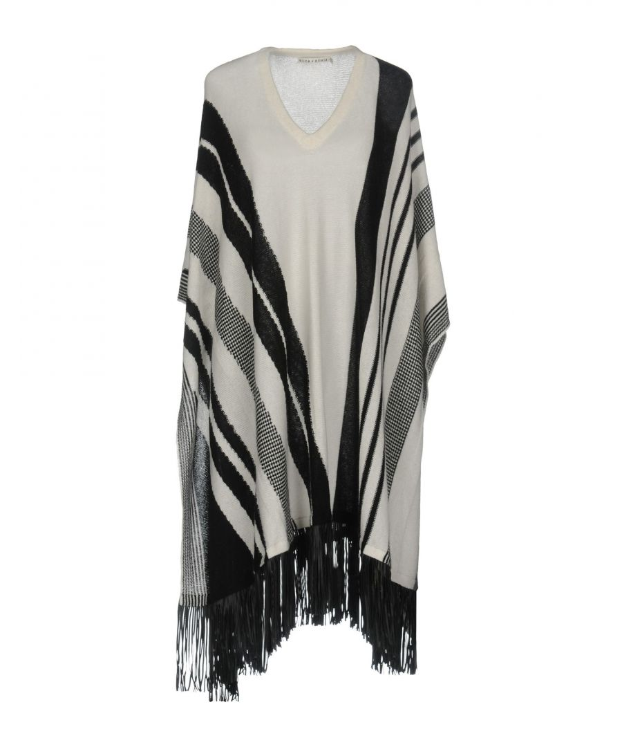 Image for Alice + Olivia Ivory Wool Cape