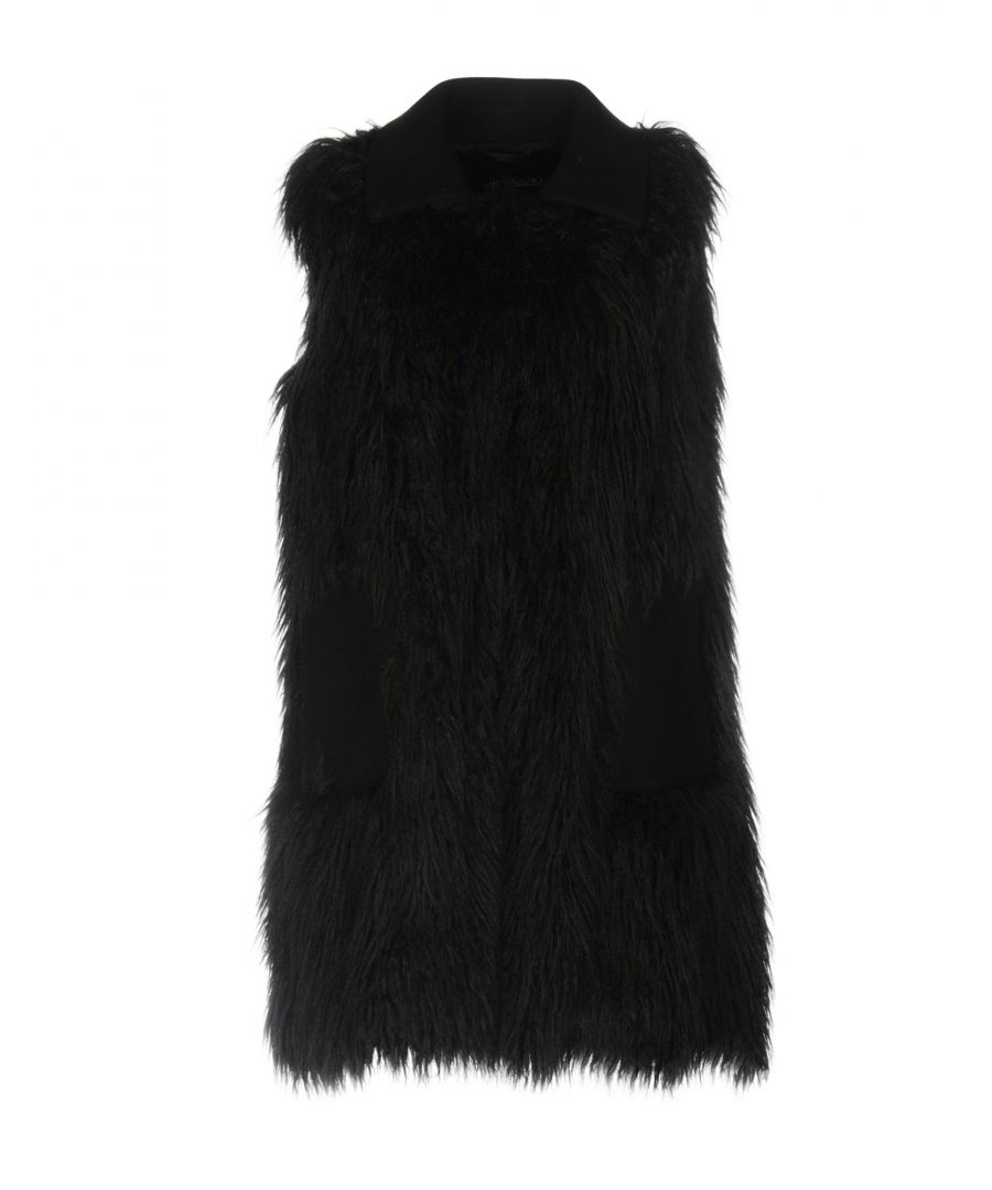 Image for Ermanno Di Ermanno Scervino Black Faux Fur Sleeveless Jacket