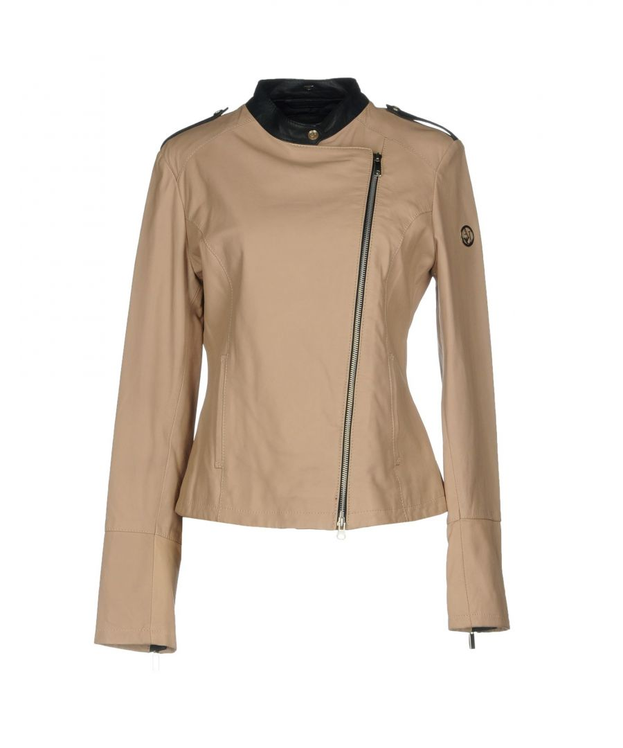Image for Armani Jeans Beige Leather Jacket