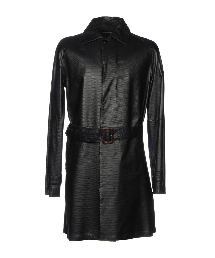 Image for Emporio Armani Black Lambskin Coat