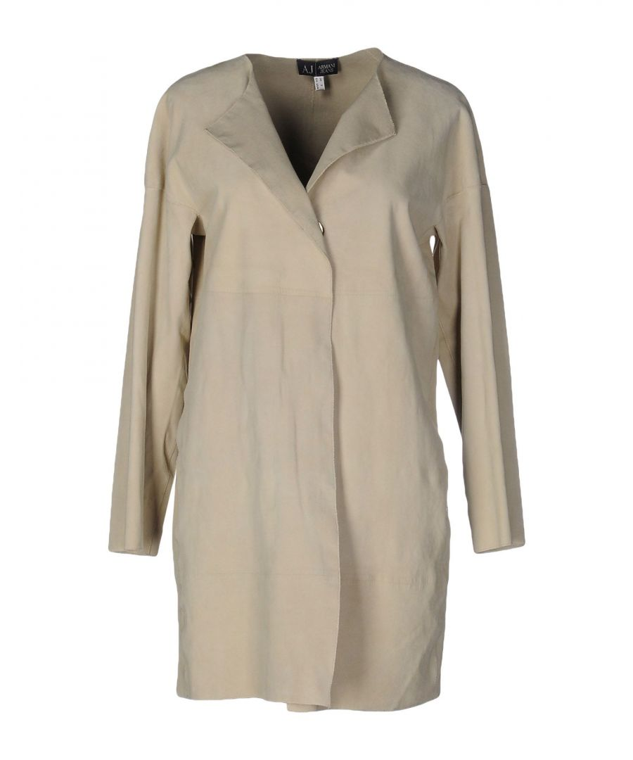 Image for Armani Jeans Beige Leather Coat