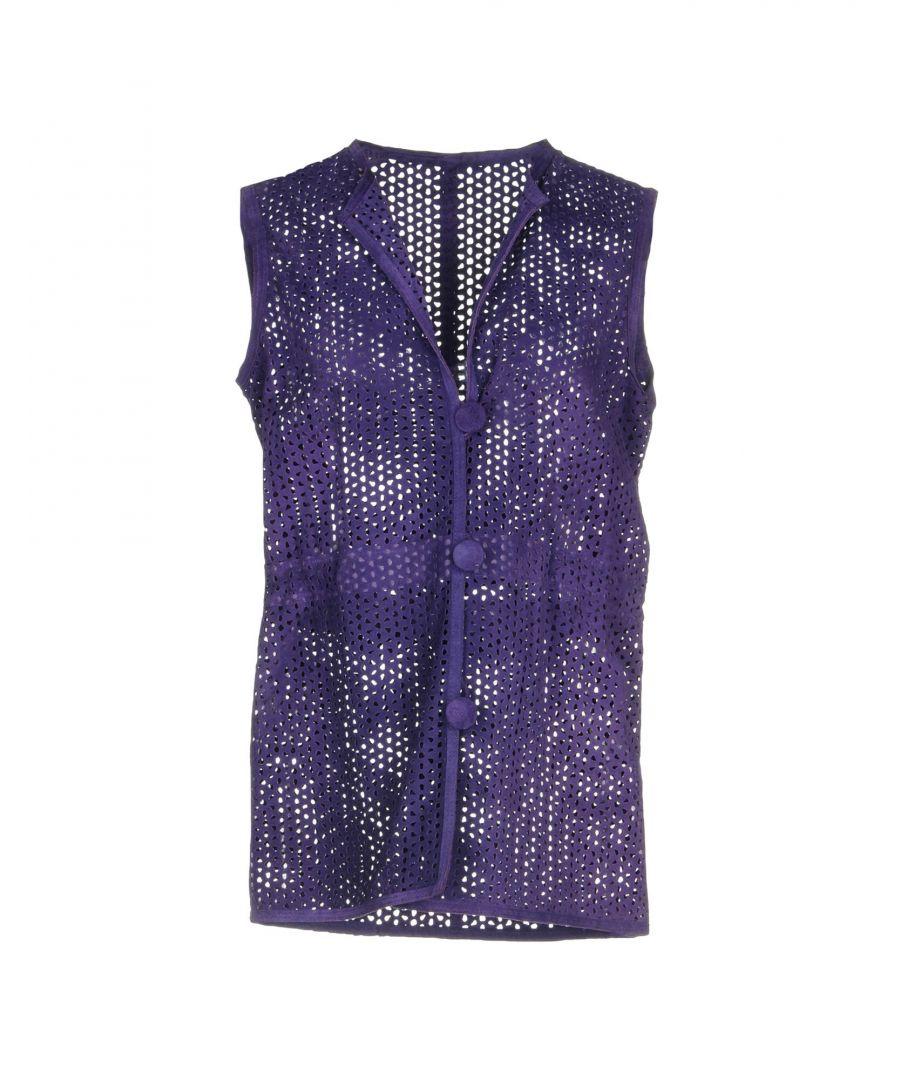Image for Armani Collezioni Purple Sleeveless Jacket