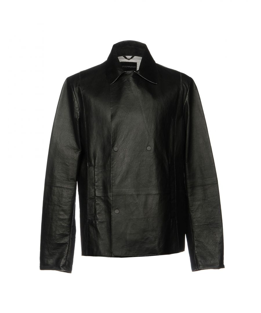 Image for Emporio Armani Black Lambskin Jacket