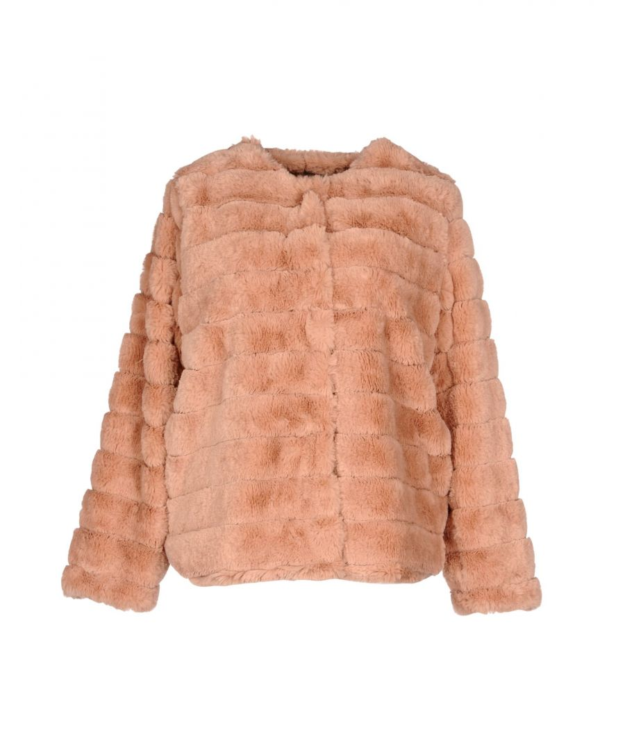 Image for Kaos Jeans Pale Pink Faux Fur Jacket