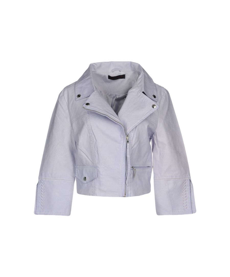 Image for Cafènoir Lilac Faux Leather Jacket